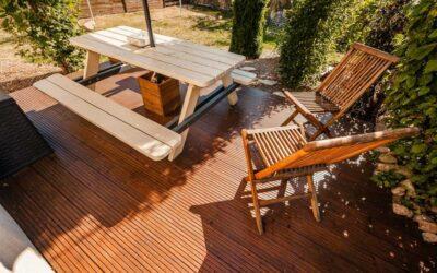 La construction d'une terrasse en caillebotis bois Vosges